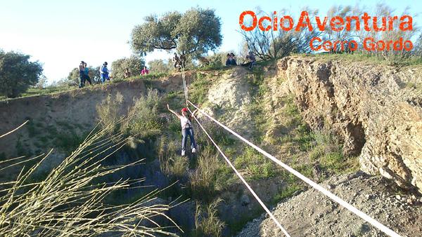 Zip line in Granada.