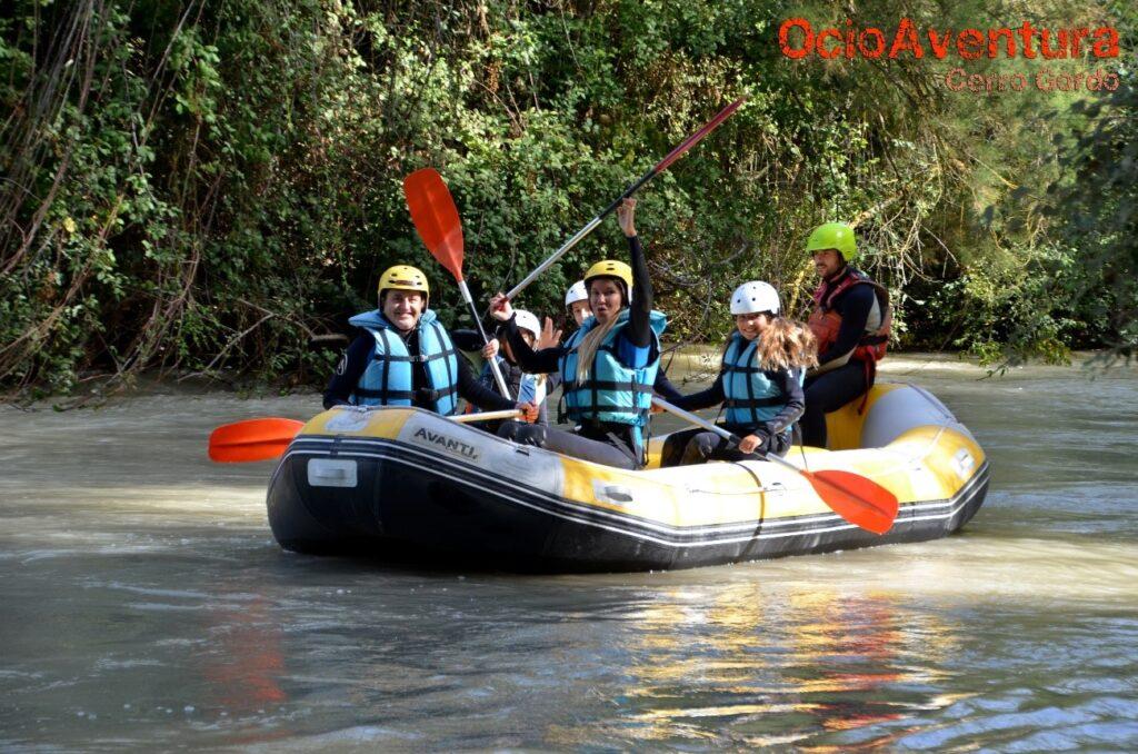 Rafting con niños en Cuevas Bajas Málaga